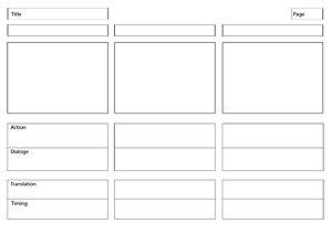 EN: storyboard template example. LT: Storyboar...