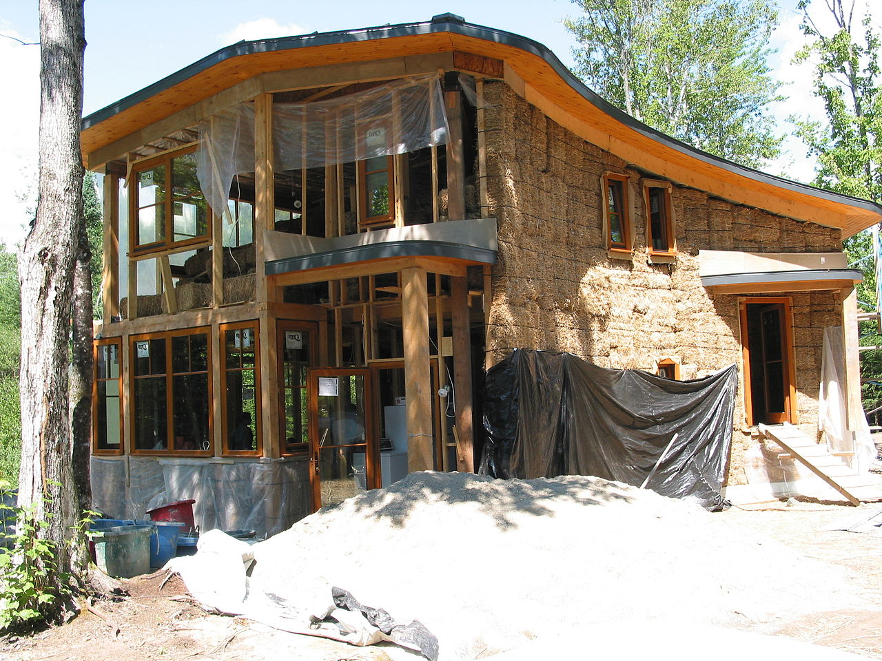 how to build a straw bale house pdf