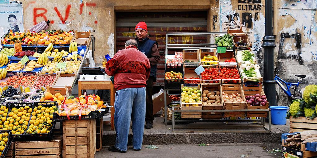 Marché dans Palerme - Photo de Mstyslav Chernov