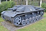 StuG III Ausf.F (partial replica?) '115' – Victory Park, Moscow (37965404584).jpg