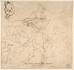 Study for an Equestrian Portrait, Possibly that of Albert de Ligne, Count of Arenberg; verso- Various Studies of Statues and Figures, Including the Venus Pudica and Scipio and his Lictor MET DP802091.jpg