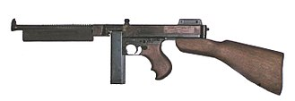 Thompson submachine gun - M1928A1 Thompson wartime production variant