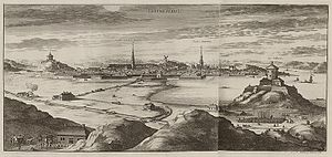 History of Gothenburg - Göteborg in around 1700 from Suecia Antiqua et Hodierna