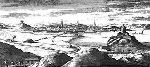 History of Gothenburg - Göteborg in around 1700 from Suecia Antiqua et Hodierna