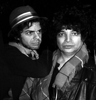 Alan Vega - Vega (right) with Martin Rev, 1988