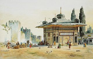 Sultans Ahmet III's Fountain by the Gate of the Seraglio in Constantinople