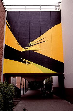 Rita Letendre - Sunforce – Hard edge style mural by Rita Letendre, 1965.