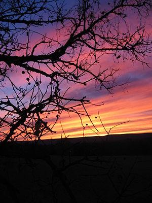 Morgan County, West Virginia - Sunset over Morgan County, West Virginia