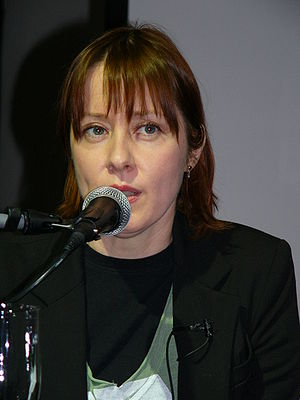 American singer Suzanne Vega in the talkshow i...