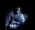 Swami Vivekananda statue in darkness.jpg