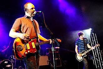 Swervedriver - Swervedriver performing at the Perth International Arts Festival, 2011. From left to right: Graham Bonnar, Adam Franklin, and Jimmy Hartridge.