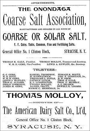 Dairy salt - An 1893 advertisement including content about The American Dairy Salt Co. Lt'd.
