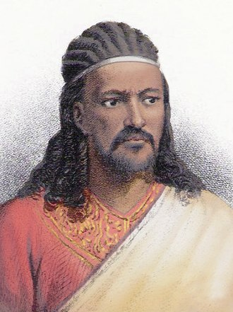 Braid - Tewodros II of House of Solomon wearing braided locks