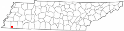 Location of Rossville, Tennessee