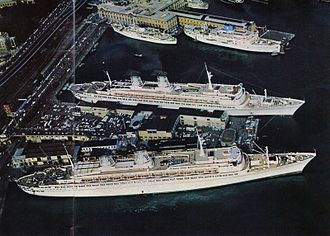 SS Michelangelo - SS Michelangelo and the SS Raffaello in Genoa Harbour