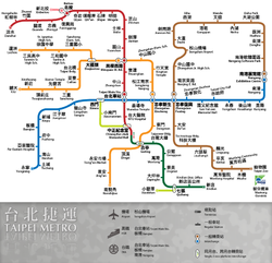 TRTS route map in early 2012 (Dongmen Sta.).png