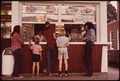 TYPICAL HOT DOG STAND AT LAKE GEORGE, NEW YORK, IN THE ADIRONDACK FOREST PRESERVE - NARA - 554495.tif