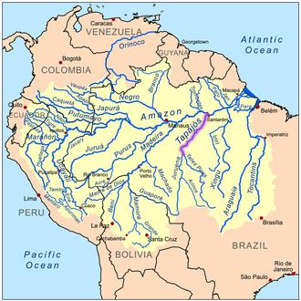 Tapajós - Image: Tapajosrivermap
