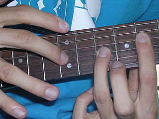 Tapping Guitar playing technique