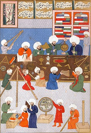 Islamic attitudes towards science - Work in the observatorium of Taqi al-Din