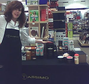Tassimo - A Tassimo promotion in an American shop.