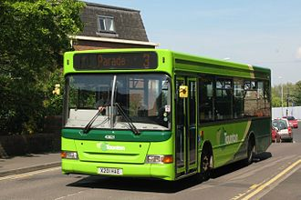 The Buses of Somerset - The Buses of Taunton liveried Plaxton Pointer 2 bodied Dennis Dart SLF in Taunton in April 2014