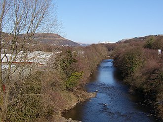 River Tawe - Looking upstream in Pontardawe