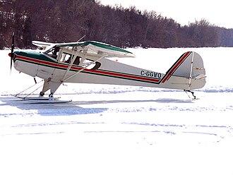 Taylorcraft Aircraft - 1975 model Taylorcraft F-19 on skis