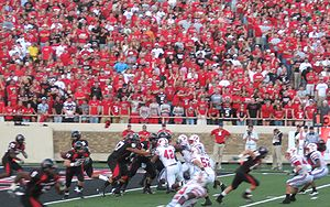 2010 Texas Tech Red Raiders football team - Tech on offense against SMU during the 2008 meeting