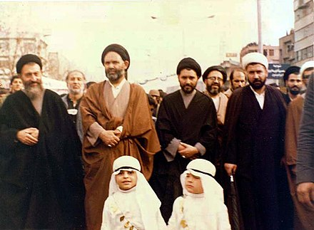 Mohammad Beheshti participates in the Tehran Ashura demonstration, 11 December 1978 Tehran Ashura Demonstration, 11 December 1978 (04).jpg