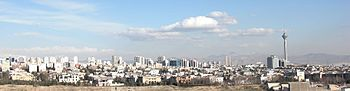 Tehran panorama in winter.JPG