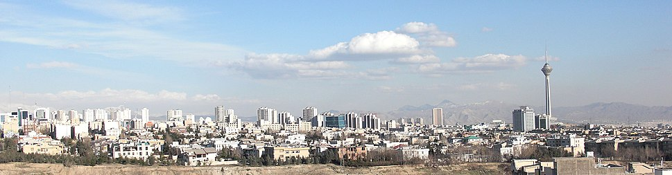 A panoramic view of Tehran during the day