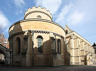 Temple Church - Temple Church, view from south-west, showing the original Round Church, now forming the nave