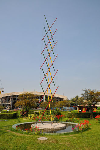 Tensegrity - A 12m high tensegrity structure exhibit at the Science City, Kolkata.