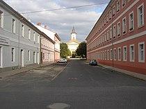 Terezin CZ Resurrection church as seen from Havlicek Str 676.jpg