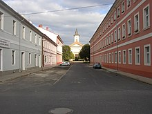 Terezin CZ Resurrection church as seen from Havlicek Str 676.jpg