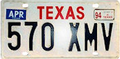 Texas license plate, 1988.png