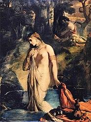 Théodore Chassériau: Susanna bathing.