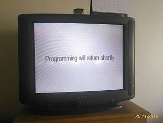 Censorship in Thailand - Blanked screen during a BBC programme on Thai monarchy