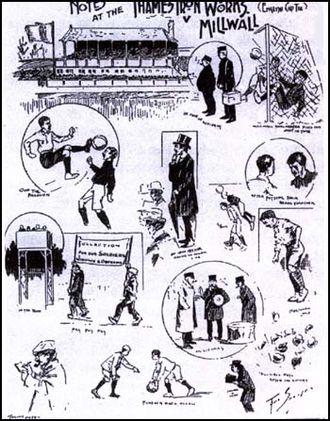 Millwall F.C.–West Ham United F.C. rivalry - Image: Thames Ironworks Millwall Athletic