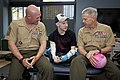The 35th Commandant of the Marine Corps, Gen. James F. Amos, right, and 17th Sergeant Major of the Marine Corps, Sgt. Maj. Micheal P. Barrett, left, visit with Army Sgt. Brendan Marrocco at Johns Hopkins Medical 130508-M-LU710-039.jpg