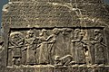 The Assyrian king Shalmaneser III receives tribute from Sua, king of Gilzanu, The Black Obelisk..JPG
