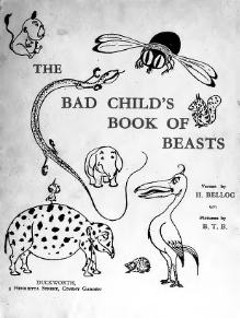 The Bad Child's Book Of Beasts.djvu