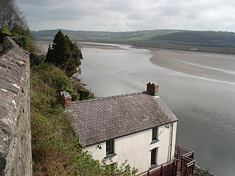 River Taf - Taf estuary overlooked by the Dylan Thomas Boathouse