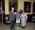 The Duchess of Kent with Sir Walter Campbell and Lady Campbell at Government House, Brisbane.jpg