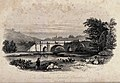 The Dundas aqueduct, Claverton, near Bath. Etching by J. Shu Wellcome V0020161.jpg