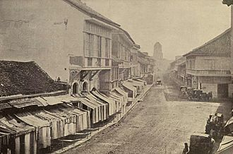 Binondo - The Escolta, the 'Broadway of Manila' (circa 1899)