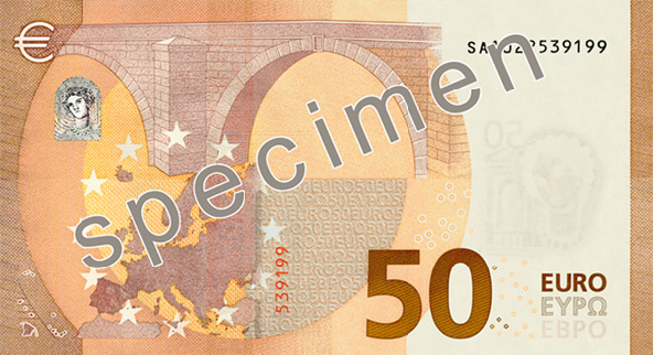 The Europa series 50 € reverse side