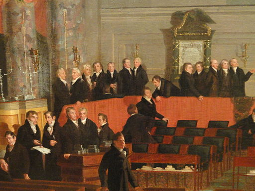 The House of Representatives by Samuel F. B. Morse, 1822-1823 (detail)