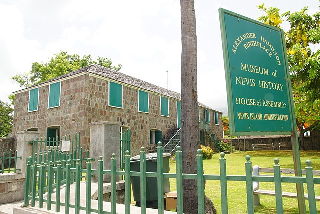 The Museum of Nevis History, Charlestown, housed in the restored Georgian building where Alexander Hamilton was born. Photo by Daniel Farrell.